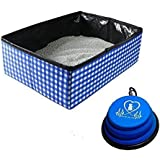 Pet Fit For Life Collapsible Portable Litter Box and Bonus Collapsible Water Bowl
