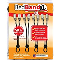 Bed Bandxl. Not Made in China. USA Worker Assembled. 50% Longer.. Smooth Sheets on any Bed. Bed Sheet Band, Holder, Gripper, Suspender, Strap. Sleep Better.