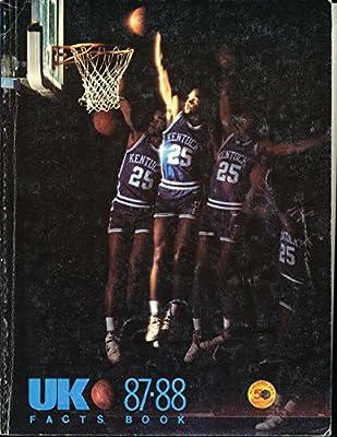 1987 - 1988 Kentucky basketball media press guide bkbx23