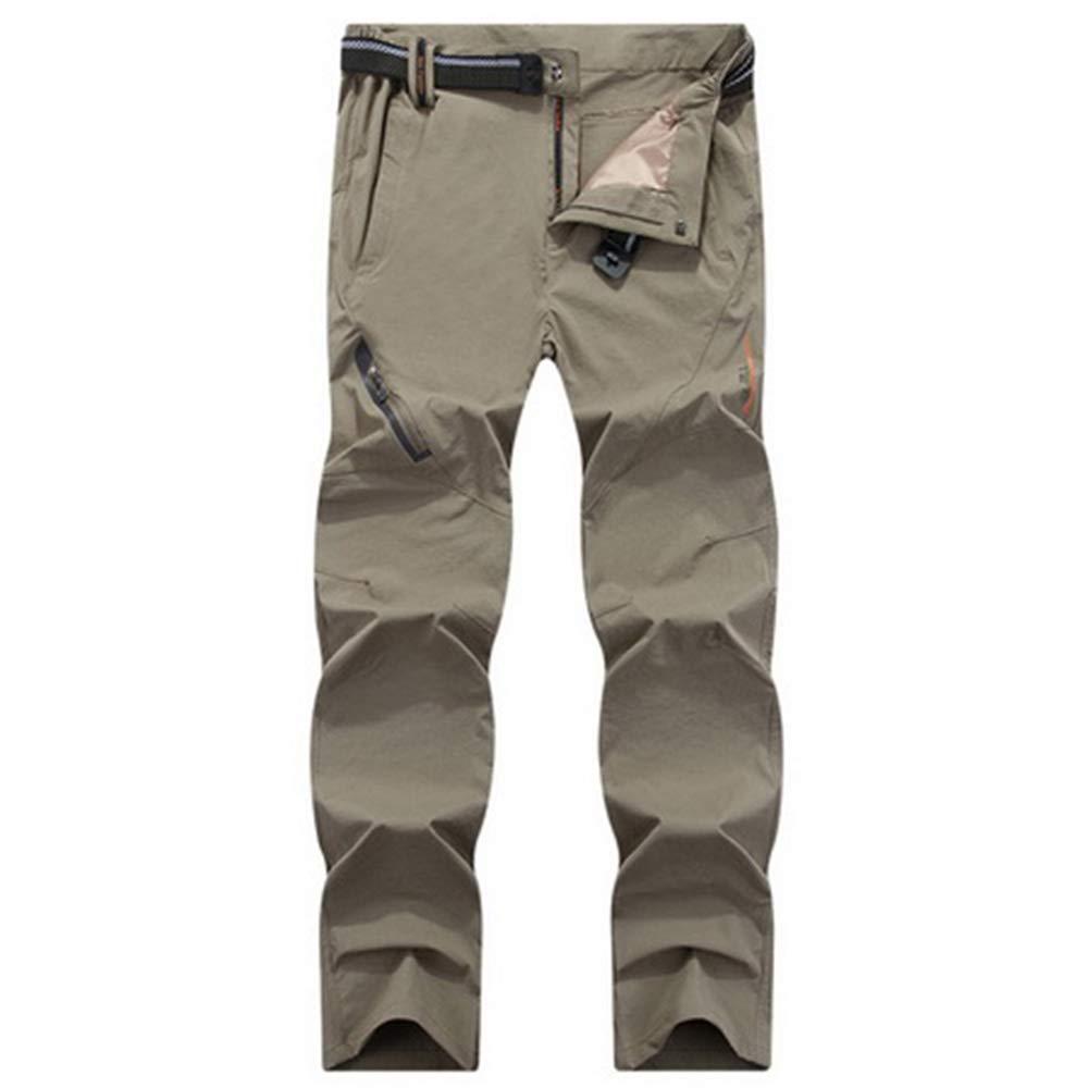 RockJay Men's Outdoor Windproof Waterproof Softshell Fleece Hiking Pants for Men