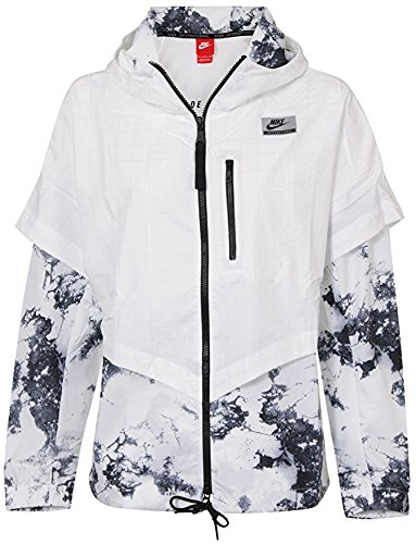 Nike International Windrunner White Womens Jacket Size L