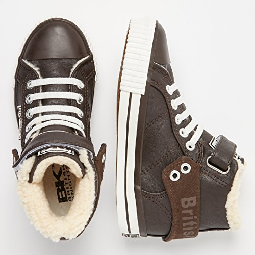 British Knights Unisex-Kinder Roco Hohe Sneaker Braun (Dk Brown)