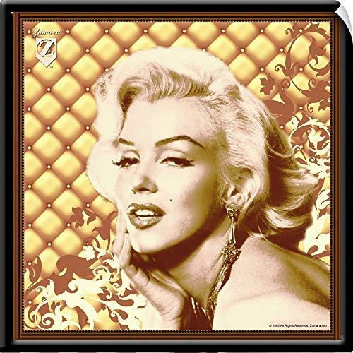 Monroe Chocolate - CANVAS ON DEMAND Marilyn Monroe Padded Floral Chocolate Wall Peel Art Print, 20