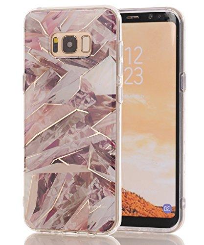 Galaxy S8 Case,Samsung Galaxy S8 Case,Spevert Marble Pattern Hybrid Hard Back Soft TPU Raised Edge Ultra-Thin Shock Absorption Scratch Proof Slim Protective Case for Samsung Galaxy S8 - Camouflage