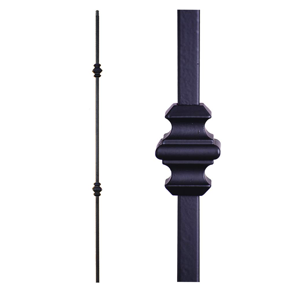Angled Shoe for 1//2 Sq House of Forgings Balusters Satin Black Box of 10