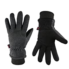 With OZERO Genuine Deerskin and Fleece Winter Gloves, you can enjoy outdoor sports with friends and do work flexibly in extreme cold weather. ✔ The leather thermal gloves are perfect for playing snowman, skiing, ice skating, Snowboarding, Sno...
