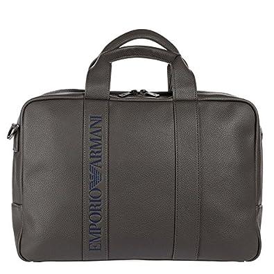 Emporio Armani - Cartera de mano para hombre gris Medium: Amazon.es: Zapatos y complementos