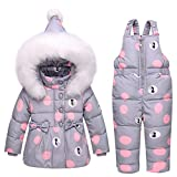 Kids Clothing Sets Grey Winter Hooded Duck Down