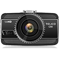 C55 2K Full HD1296P 2304x1080 Car Dash Cam ,Car DVR Dashboard Camera Car Vehicle Camera, 170° Wide Angle with Night Vision, WDR, Parking Monitor, G-Sensor, With 8GB SD card