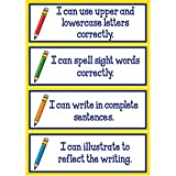 Really Good Stuff Writing Goals Clip 'N' Track Pocket Chart - Primary Card - Refill
