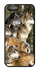 Wolves 3 PC Case Cover for iPhone 5 and iPhone 5s ¨CBlack