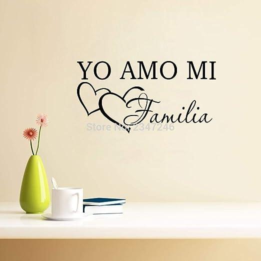 JXCDNB Adhesivos de Vinilo Yo Amo Mi Familia de expresión española Adoro la decoración de mi hogar Pegatinas de Pared 30X58 cm: Amazon.es: Hogar