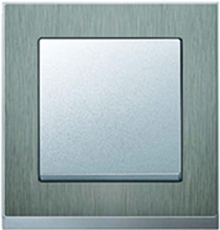 Merten System M Pure Deco Frame 1 Compartment, Stainless Steel ...