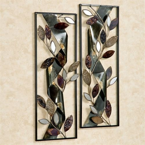 Touch of Class Autumn Whisper Metal Wall Art Panels Black Set of Two