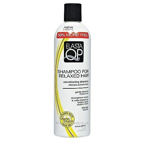 Elasta QP Shampoo for Relaxed Hair, 12 Ounce