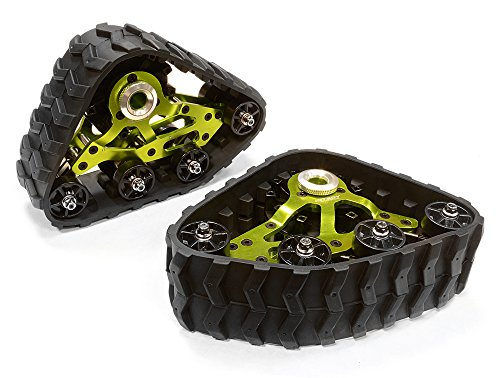 Integy RC Model Hop-ups C26088GREEN Rear Snowmobile & Sandmobile Conversion for Axial 1/10 Wraith