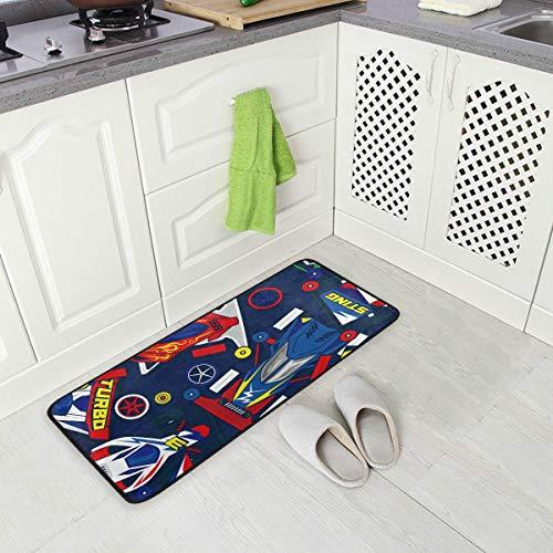 4wd Carpet - Mini 4WD Toys Car Pop Blue Kitchen Anti Fatigue Mat Comfort Floor Carpet - for Kitchen and Standing Desks-20 x 39 inches