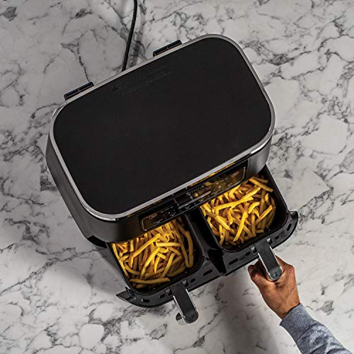 Ninja Foodi [AF300EU] Freidora de Aire Dual Zone, 2470 W, 7.6 litros, Plástico, Negro