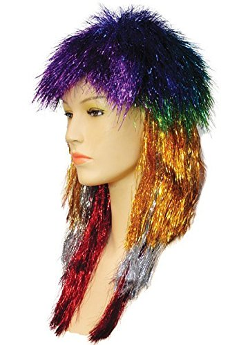 (Lacey Wigs Punk Long Tinsel Rainbow)