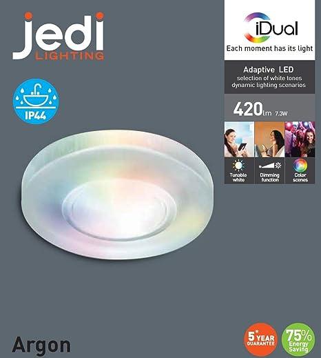 Jedi 563041554 foco empotrable Argon Metal 1 L), transparente
