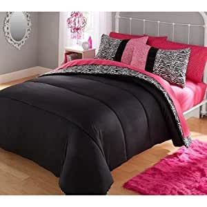 Amazon.com: Your Zone Piece Zebra Bedding Comforter Set