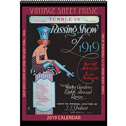 Vintage Sheet Music 2019 Calendar: Sheet Music Cover Art ()