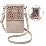 seOSTO Small Crossbody Bag Cell Phone Purse Wallet with 2 Shoulder Strap Handbag for Women Girls (Beige) …