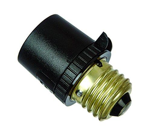 Dusk to Dawn Light Control with Adjustable Light Exposure Sensitivity Setting up to 150 Watt Incandescent - Light Socket Sensor