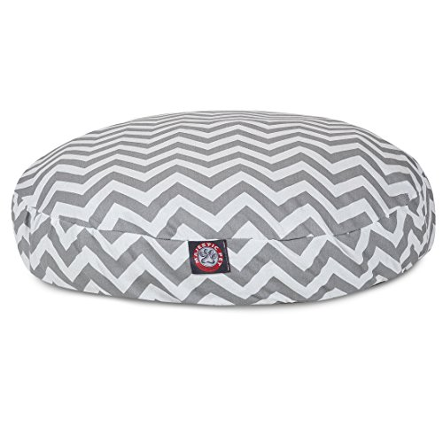 Gray Chevron Large Round Indoor Outdoor Pet Dog Bed With Removable Washable Cover By Majestic Pet Products Round Pet Pillow