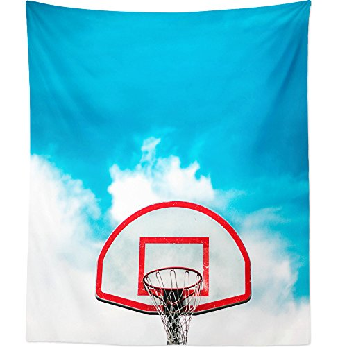 nging Tapestry - Basketball Hoop - Photography Home Decor Living Room - 51x60in (Team Mom Tapestry Throw)