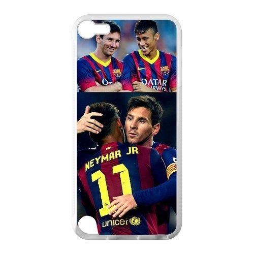 Soccer FC Barcelona Neymar Jr Brazil Lionel Messi Custom Case Cover for IPod Touch 5 TPU Laser Technology
