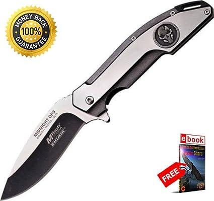 Amazon.com: Táctica M Tech a864sw Midnight Ops cuchillo ...
