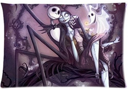 New Zombie Love NIGHTMARE BEFORE CHRISTMAS Pillowcase Pillow Case Cover 16x24 inch (twin sides)