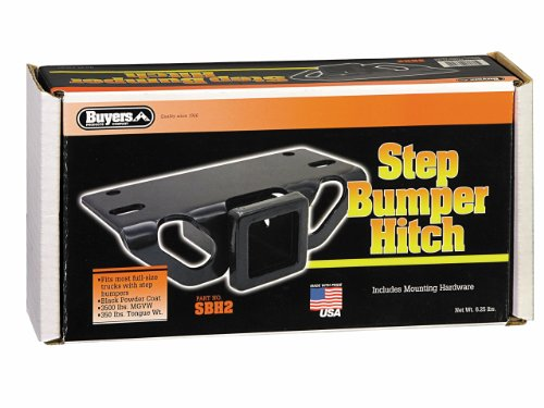 10 Inch Step Bumper - Buyers Products SBH2 Step Bumper Hitch (with 2