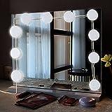 UMFun Mirror Headlight LED Vanity Mirror Lights Kit with Dimmable Light Bulbs Lighting Fixture Strip