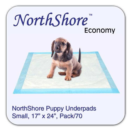 NorthShore Economy, 17 x 24, 6 oz., Puppy Pads, Small, Pack/70