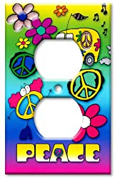 Art Plates - Peace Switch Plate - Outlet Cover