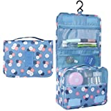 Heavy Duty Waterproof Hanging Toiletry Bag - Travel Cosmetic Makeup Organizer Bag for Women Girls...