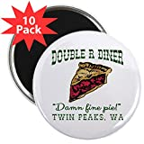 CafePress - Twin Peaks Cherry Pie Diner - 2.25'' Round Button Magnet (10 pack)