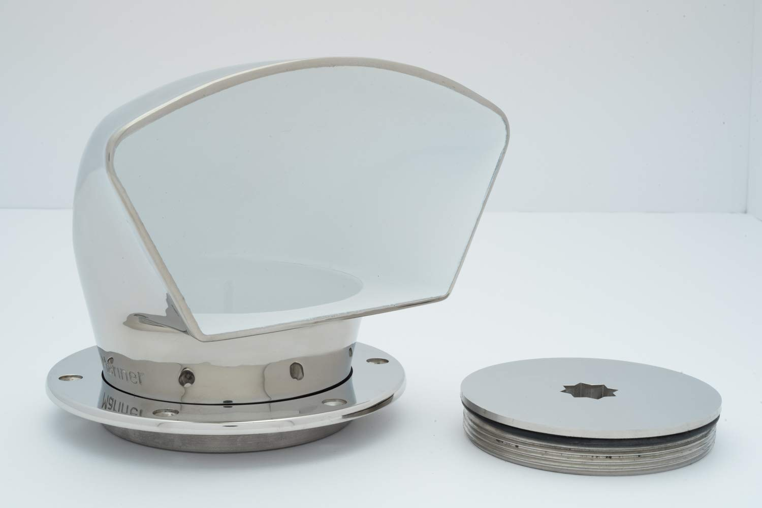 4'' Low Profile Stainless Cowl Vent with Deck Plate Set by Buchan Marine