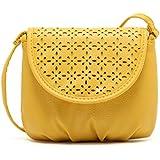 Generic Women Leather Satchel Shoulder Bag Cross Body Messenger Tote Mini Handbag Yellow