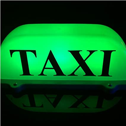 Luz para techo de taxi, de LED, de 12 V, con base magnética, luz LED de color verde