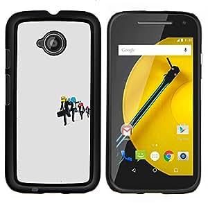 """Be-Star Único Patrón Plástico Duro Fundas Cover Cubre Hard Case Cover Para Motorola Moto E2 / E(2nd gen)( Embalse perro sonriente - divertida"""" )"""