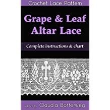 Grape & Leaf Altar Lace Filet Crochet Pattern