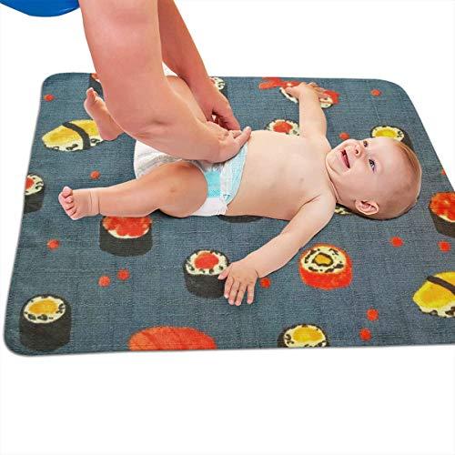 V5DGFJH.B Baby Portable Diaper Changing Pad Roll Sushi Urinary Pad Baby Changing Mat 31.5
