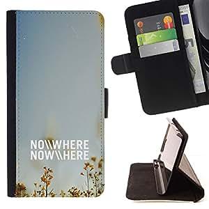 Momo Phone Case / Flip Funda de Cuero Case Cover - NO DONDE - NINGUNA PARTE - Sony Xperia Z5 Compact Z5 Mini (Not for Normal Z5)