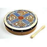 10 Inch Celtic Irish Pattern Bodhran Drum and Beater