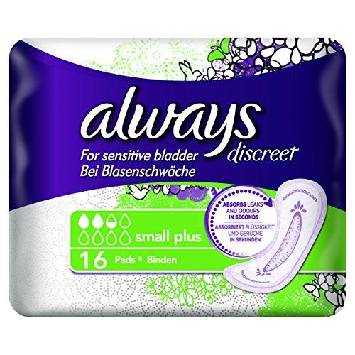 Always Discreet Einlagen Small Plus bei Blasenschwäche, 2er Pack (2 x 16 Stück)