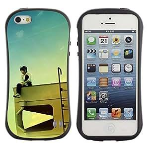 Fuerte Suave TPU GEL Caso Carcasa de Protección Funda para Apple Iphone 5 / 5S / Business Style Design RV Kid