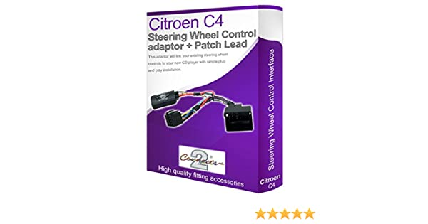 Adaptador para radio de coche Citroën, conecta los controles del volante: Amazon.es: Electrónica